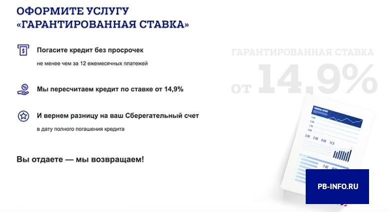 Гарантированная ставка от Почта Банк