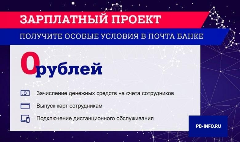 Зарплатная карта Почта Банк